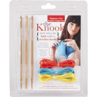 Knook Beginner Kit Knit with Crochet Hooks Patterns Baby Afghan Scarf