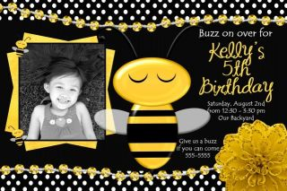 Ladybug Bumble Bee Bug Birthday Invitation Baby Shower