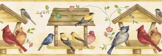 Kitchen Birds Bird Seed Wallpaper Border KC322