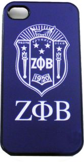 Zeta PHI Beta Shield Crest 3 Letter iPhone 4 Protection Case Cover