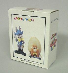 Looney Tunes Salt Pepper Bugs Bunny Yosemite Sam w Box 1993 Warner