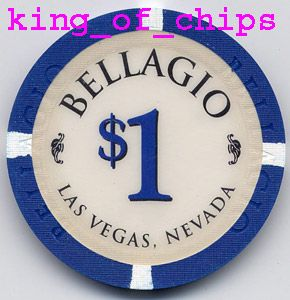 Casino Chips Las Vegas $1 Bellagio Poker Chip Obsolee
