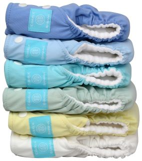 Banana 2 in 1 Unisex One Size Reusable Baby Cloth Diaper Pastel 6 Pack