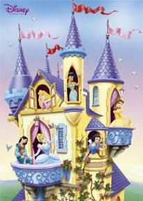 DISNEY POSTER ~ PRINCESS CASTLE Belle Cinderella