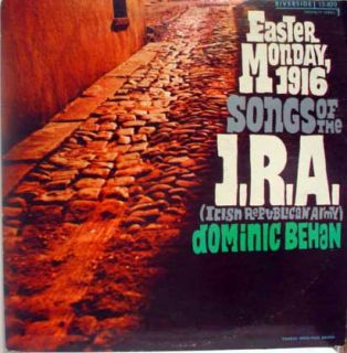 dominic behan songs of the irish republican army label riverside
