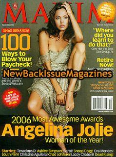 maxim 12 06 angelina jolie eva mendes decembe r 2006