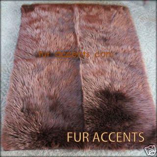 BROWN BEAR SKIN RUG SOFT FAUX FUR SHEEP SKIN ACCENT RUGS FAKE FUR NEW