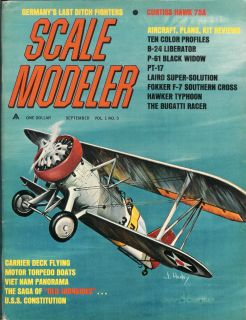Scale Modeler Magazine Sep 1965 Military Moders Aircraft Armor Ships