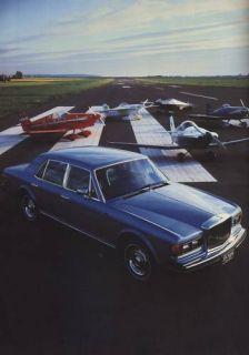 1982 Bentley Mulsanne Rolls Royce Sales Brochure Book