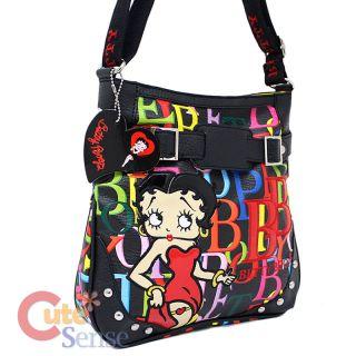 Betty Boop Fux Leather Mini Messenger Bag  Colorful Signature