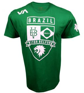 MEN FIGHT T SHIRT VA RVCA XL UFC 142 WALKOUT VITOR BELFORT GREEN MMA
