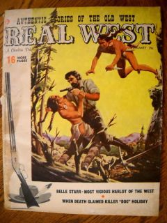 Real West Magazine February 1958 Belle Starr Sin Sister