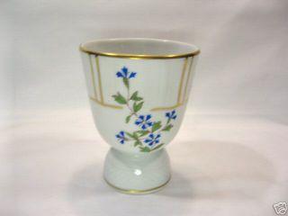 Bernardaud Limoges B C Bleuets Egg Cup Porcelain Gold