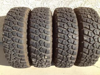 BF Goodrich KM2 265 75 16 Tires 90 Tread Life Set of 4