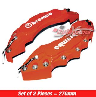 Red Brembo Look Brake Caliper Covers Front Large 2pcs