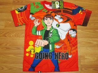Ben 10 Alien Force T Shirt 1411 Red Size XL Age 10 12