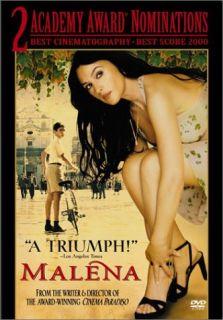 Maléna (DVD, 2001) Monica Bellucci   2 Academy Award Nominatons