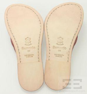 Bernardo Red Patent Leather Flat Sandals Size 8 New