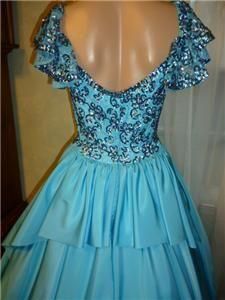 Stunning Mike Benet Vtg 50s Ballroom Sequin Rhinestone Gown Dress