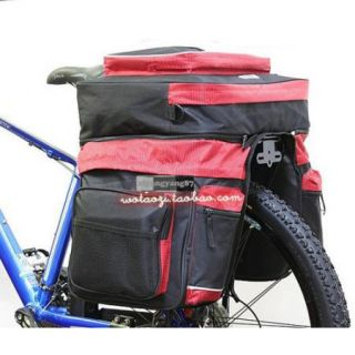 50L Cycling Bicycle Bag Bike Outdoor rear seat bag pannier Red