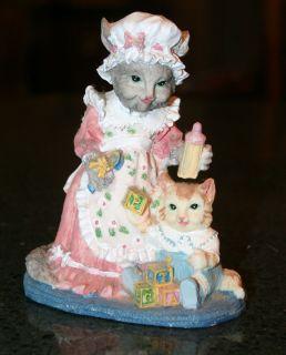 Internatl Resourcing EMMA CATNIP & BABY BERTRAM Victorian Kitty Cat