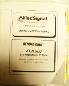 Bendix King KLN 900 GPS Navigation Installation Manual