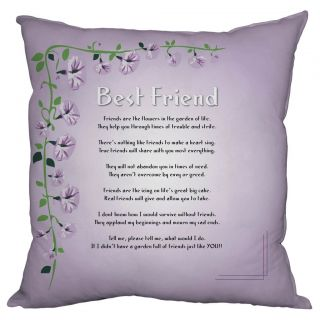 Best Friend Gift Present Friendship Poem Cushion