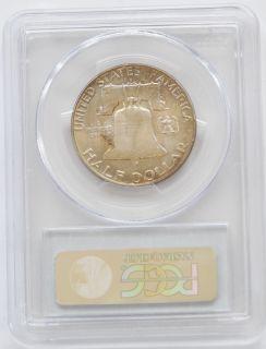 1960 d benjamin franklin half dollar 50c pcgs ms64 material 900 fine