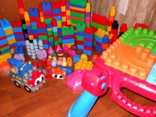 LARGE LOT LEGO TYCO DUPLO MEGA BLOK BLOCKS BUILDING TOY TRAIN LEARNING