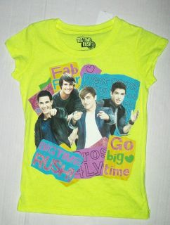 Girls Big Time Rush T Shirt Sz 7 8 M Carlos Fab 4 James Logan Kendall