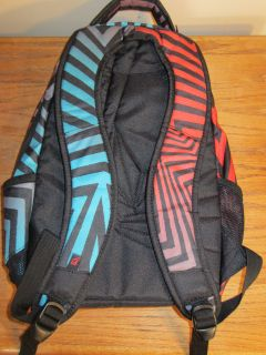 Volcom Big Youth Backpack NWOT Black Blue Red Schoolbag