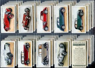 Tobacco Card Set, John Player & Sons, MOTOR CAR,Vintage Vehicles,1st