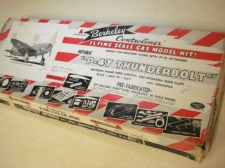 Berkeley Models P 47 Thunderbolt Control Line Model Airplane Kit