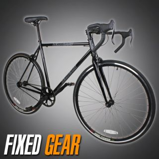 54cm Track Fixed Gear Bike Fixie Single Speed Road Bicycle Black Color