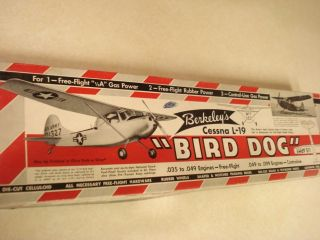BERKELEY *CESSNA L 19 BIRD DOG* CONTROL LINE MODEL AIRPLANE KIT*