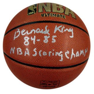 BERNARD KING AUTOGRAPHED SIGNED BASKETBALL SCORING CHAMP PSA DNA