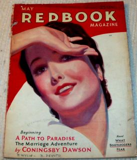 1931 Redbook Magazine w Bernard de Voto Airline Stewardesses w C