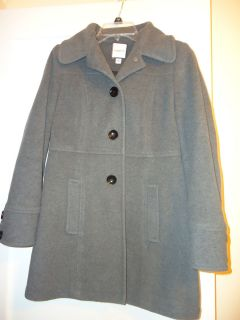 EUC Croft Barrow Long Wool Walker Winter Coat Womens Small Gray
