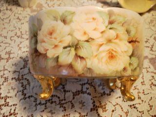 Antique Limoges Bernardaud Co Large Artist Signed P Peske Fruit Bowl
