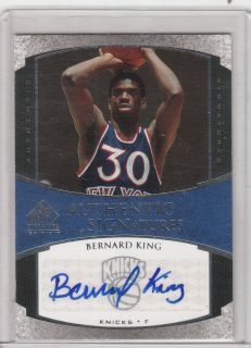 BERNARD KING 05 06 UPPER DECK SP SIGNATURE AUTO KNICKS