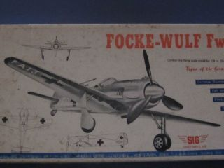 Berkeley Sig FW 190 Focke Wulf Scale Model Airplane Kit U C Balsa C L