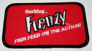 Vintage Berkley Frenzy Bait Fishing Lure Cloth Patch