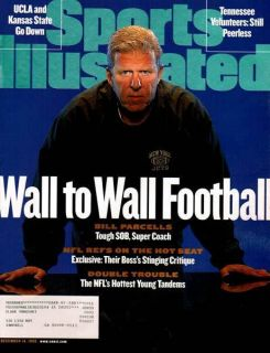 Sports Illustrated 1998 Bill Parcells Football Coach NFL New York Jets