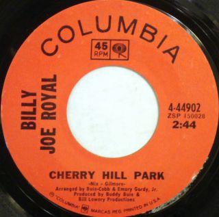 Billie Joe Royal Cherry Hill Park Helping Hand Columbia 45 4 44902