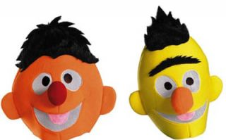 Sesame Street Bert & Ernie Adult Costume Headpiece Couples Costume