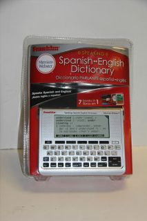 WEBSTER SPANISH ENGLISH SPEAKING DICTIONARY TRANSLATOR BES 1940