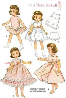 Clothes Pattern 2300 Size 8 or 14 Tiny Betsy Betsy McCall