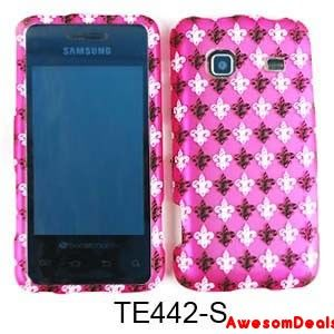 Cell Cover Case for Samsung Galaxy Prevail M820 Black White Saints