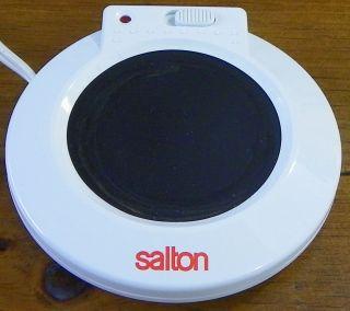 Salton White Beverage Mug Warmer Coffee Tea Cup Warming Plate