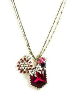Betsey Johnson Jewelry Iconic Fabulous Fuschia Crystal Bow